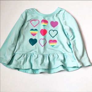 Girls 12-18 month  Blue Sweater with hearts